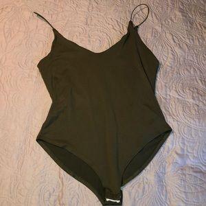 Size Large Olive Green Bodysuit
